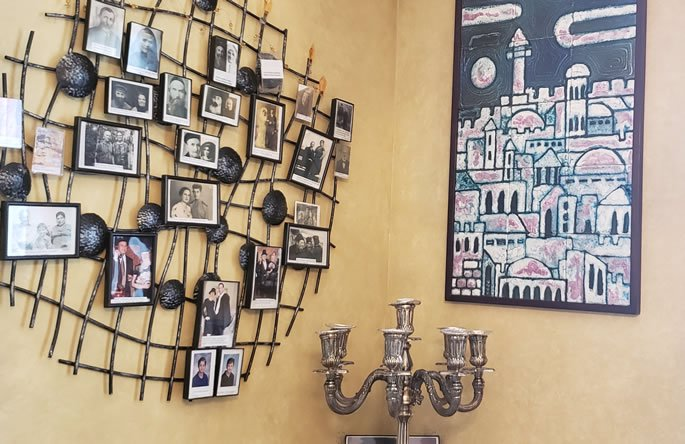 My family tree hangs over my Shabbat candles.