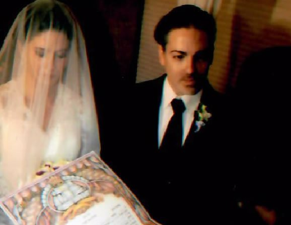 Irini (now Rina Rochel) and her husband at their Chuppah.