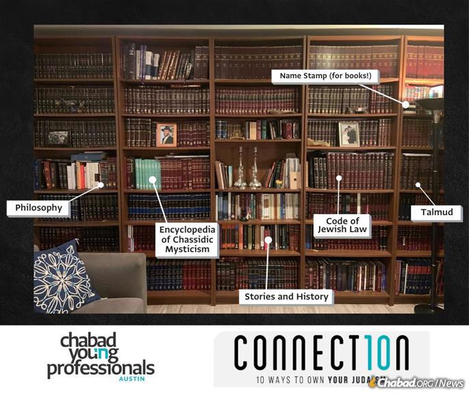 Having Jewish books in one's home is one of the 10 mitzvahs in the Connect10n campaign.