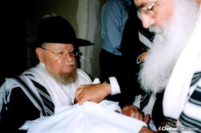 Serving as a sandek at a brit milah. Few knew about his multiple escapes for the simple reason that he never spoke about it.