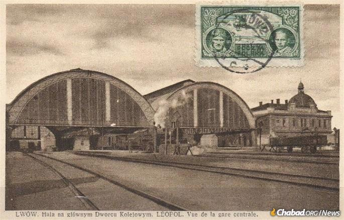Lvov, also known as Lviv, Ukraine, was alternatively known as Lwow and Lemberg throughout its history. Its train station, pictured, was in the postwar era the gateway to Polish repatriation for both real and fictitious Poles, Kahanov and most Lubavitch Chassidim very much in the latter category.