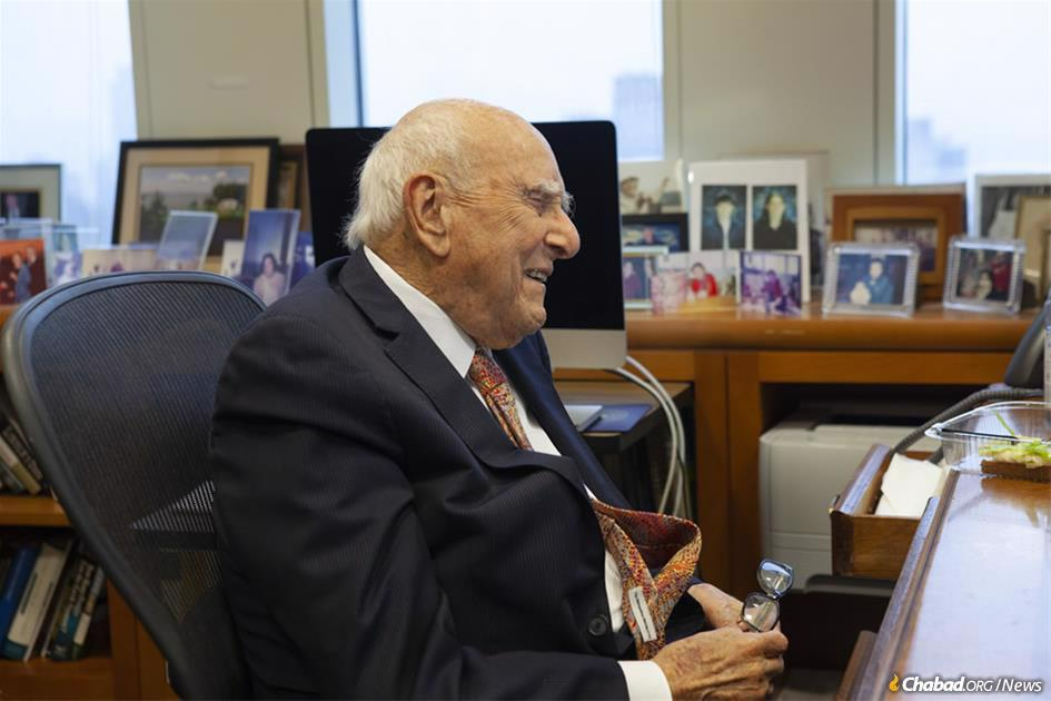 Criminal justice reform was enacted, and at the White House, Chassidim were recognized for getting it done. A longtime proponent of reform, Judge Jack B. Weinstein of the U.S. District Court for the Eastern District of New York talked about his encounters with the Rebbe—Rabbi Menachem M. Schneerson, of righteous memory; his long relationship with the Aleph Institute; and why at age 98 he still feels that there's more to accomplish. (Photo: Moshe Finkelstein/Chabad.org)