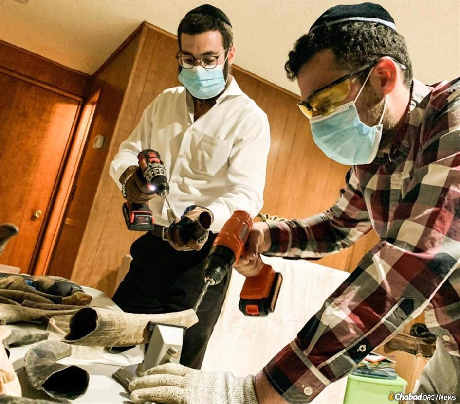 "As the year drew to a close, Rabbi Yehuda Ceitlin and Eli Soffer manufactured shofars from scratch to go into a ""High Holiday in a Box"" that Chabad of Tucson, Ariz., is distributing to community members not able to attend services on Rosh Hashanah due to the coronavirus pandemic."