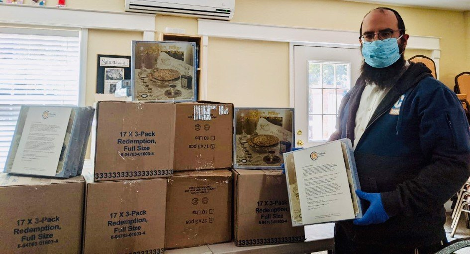 Chabad emissaries and volunteers worked tirelessly amid the spreading pandemic to ensure that people would be provided with their Passover needs. In addition to general Passover staples—traditional foods, matzah and kosher wine, Haggadahs and other printed materials and do-it-yourself tools— Chabad distributed approximately 3.5 million handmade shmurah matzahs for individual use.