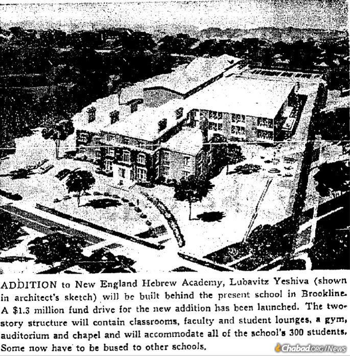 Lubavitch yeshiva was featured in the Boston Sunday Globe, October 1968.