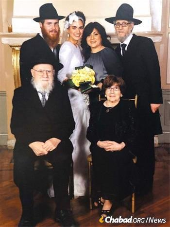 Rabbi Chaim and Esther Ciment at a family wedding.