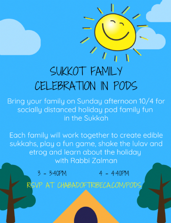 Sukkot Family Celebration Pods