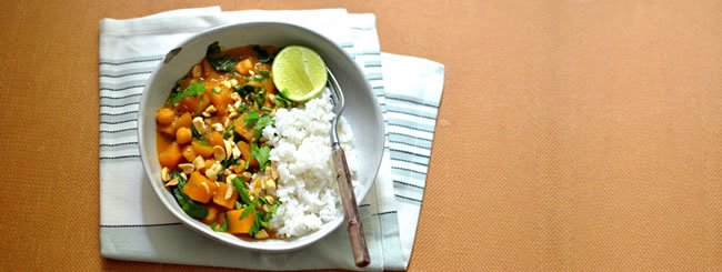 Vegetarian: Butternut-Chickpea Curry