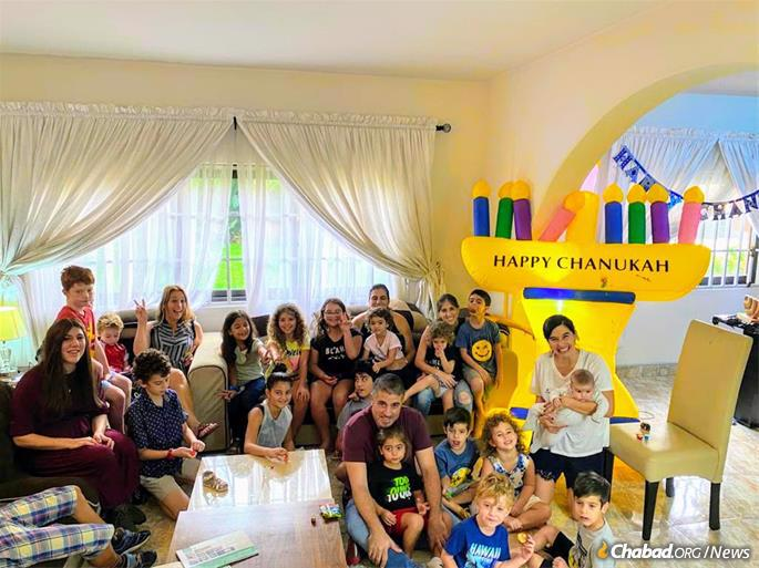 Chanukah is a special time for Jewish kids and their parents on any continent.