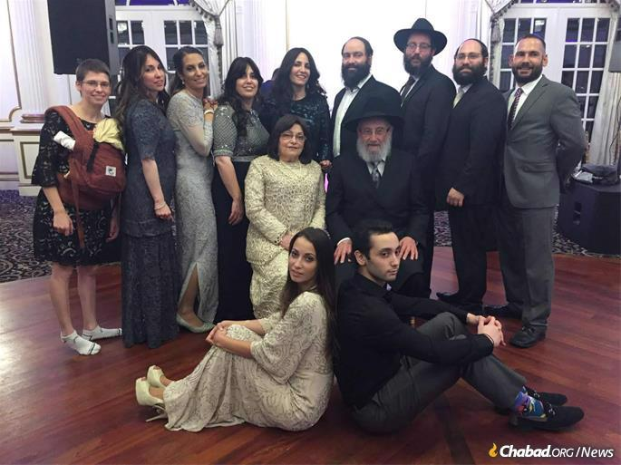 Israel and Chaia Teitelbaum with some of their children