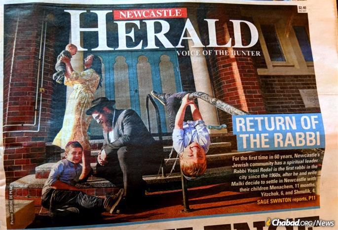 The Rodal family's arrival in Newcastle was front page news.
