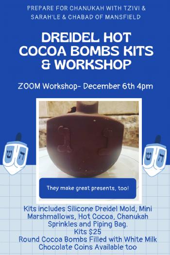 Dreidel Hot Cocoa Bomb Kits & Workshop