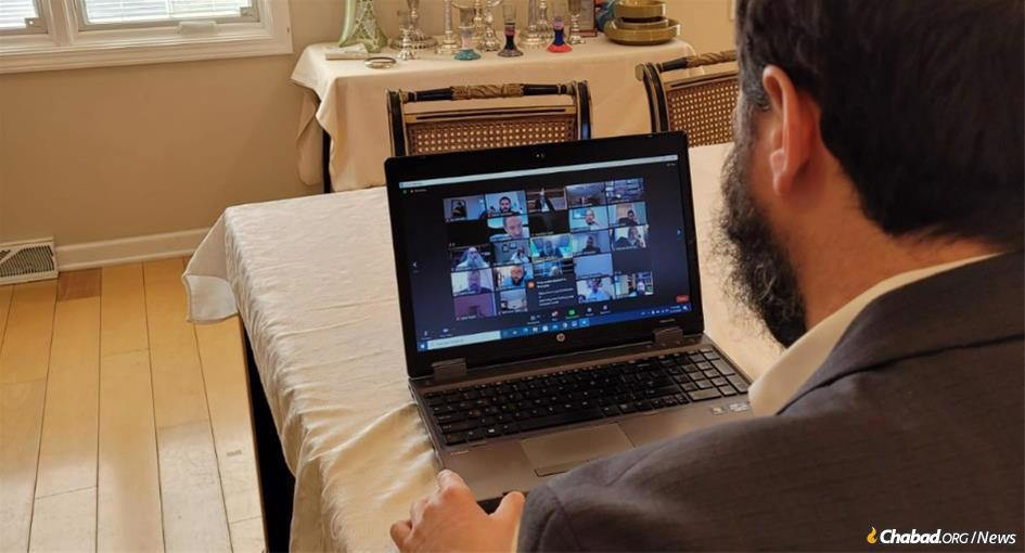 A transcontinental post-Shabbat rabbinical celebration turned into the longest Zoom meeting on record. Rabbi Eliezer Zalmanov joined from Indiana.