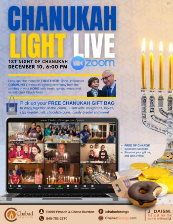 Chanukah Light Live & Gift Bag