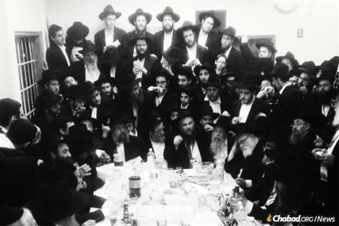 A prior-year celebration following an earlier International Conference of Chabad-Lubavitch Emissaries.