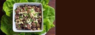 Salada Vegetariana de 'Figado' Batido