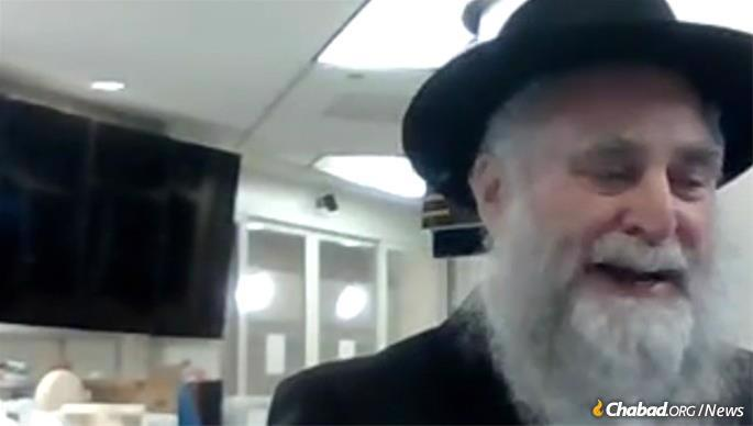 Rabbi Itchel Krasnjansky joined from Hawaii.