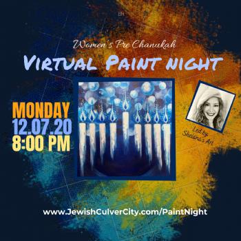 Virtual Menorah Paint Night