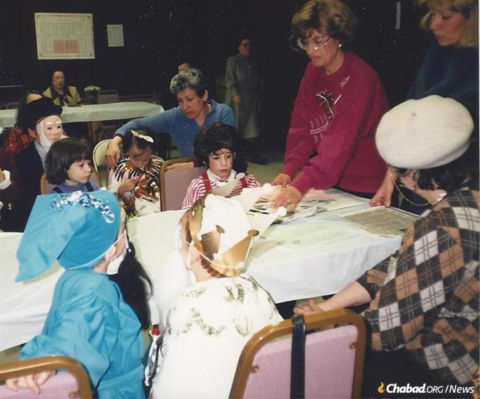 At a Purim party for young and old at F.R.E.E of Chicago