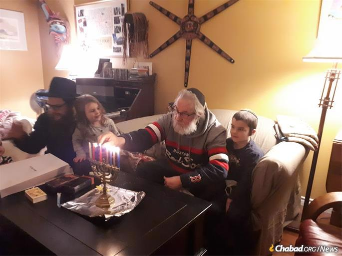 The Hecht family (pictured) spends one day in the main city of Kelowna, and then an evening in eight cities in the region, doing Hanukkah house visits and public menorah lightings. This year will be different because of COVID, but they want to make sure Hanukkah is felt more than ever before.
