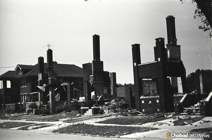"The riots of the 1960s devastated whole neighborhoods, like this part of Detroit during the ""long, hot summer"" of 1967. (Credit: Phil Cherner via Wikimedia Commons)"