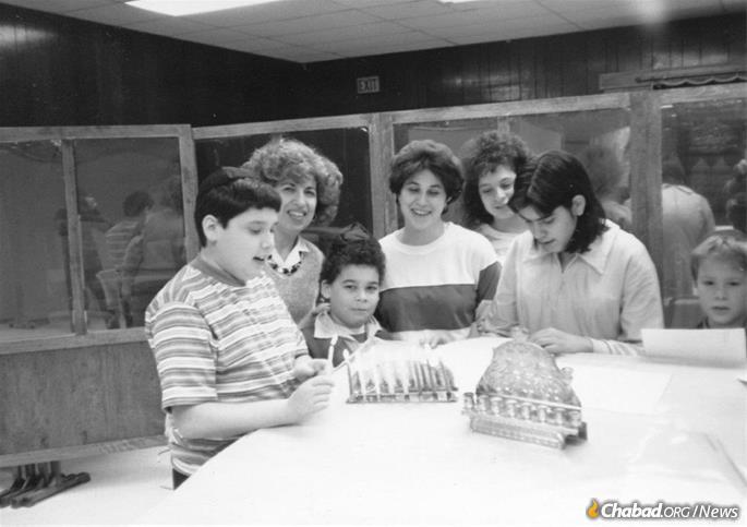 Celebrating Hanukkah with Russian Jewish kids at the F.R.E.E headquarters, then on California Avenue.