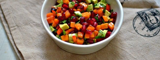 Salad: Persimmon-Pomegranate Salsa