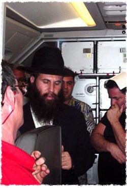 Rabbi Konikov's JetBlue Minyan
