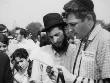 The tefillin campaign in the streets of New York.