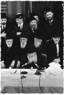 The Rebbe, Rabbi Menachem M. Schneerson of righteous memory, delivers a scholarly dissertation at Lubavitch World Headquarters.