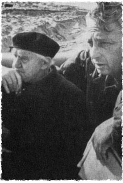 Ariel Sharon and former Prime Minister David Ben-Gurion on the Suez Canal.