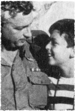 Ariel Sharon with his son Gur.