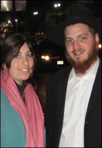 Rabbi Mendel (r) and Mrs. Rachel Druk moved to Cancun this week.