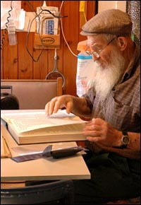 A man of habit, Rivkin studied Talmud every afternoon.