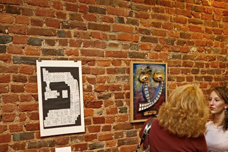 """Timed to coincide with Philadelphia's """"First Friday"""" festivities, the Old City Jewish Art Center features art from local artists and a """"Taste of Shabbat"""" kiddush."""