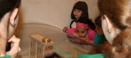 Campers learn about the this Holy Temple at the Jewish Children's Museum in Brooklyn, N.Y.