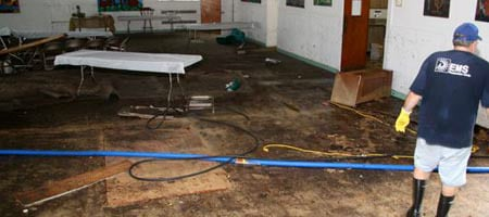 Assessing the damage at the Beth Shalom Chabad synagogue
