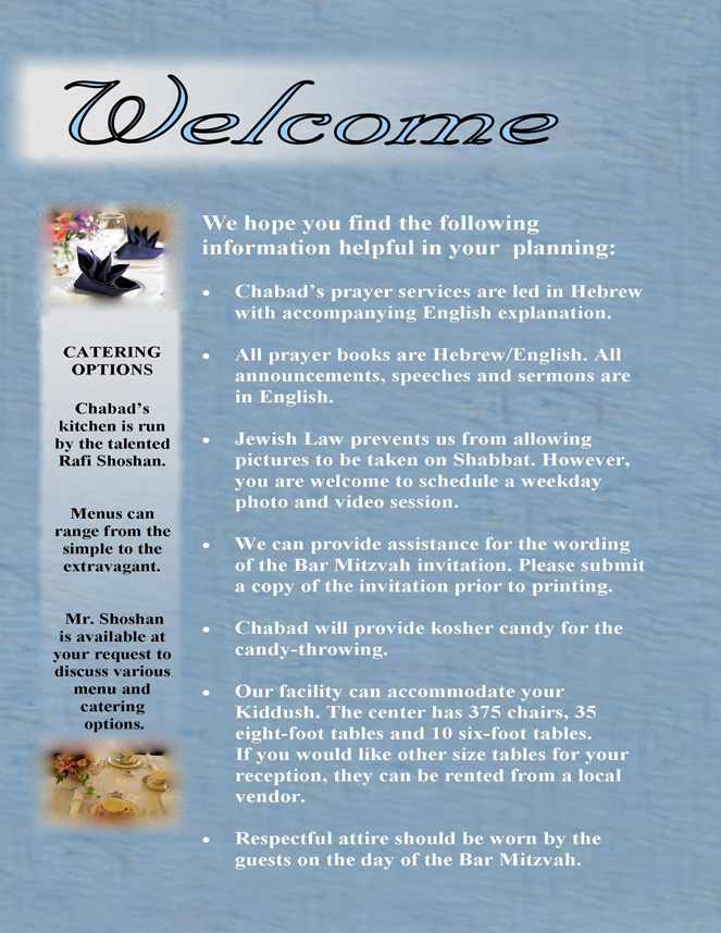 Bar Mitzvah Welcome - Chabad of Coral Springs