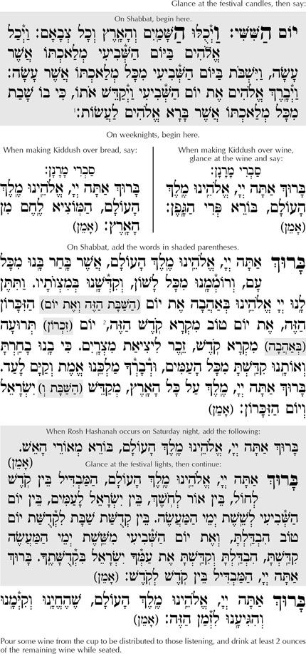 image about Shabbat Blessings Printable known as Rosh Hashanah Night time Kiddush - Large Holiday seasons