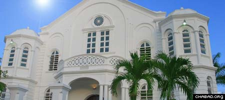 Jamaica's only functioning synagogue, in the capital city of Kingston