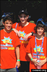 Teenage volunteers provide the bulk of the Friendship Circle's services. (Photo: Julia Kaplan)