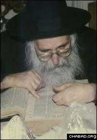 Rabbi Shlomo Matusof in his later years.