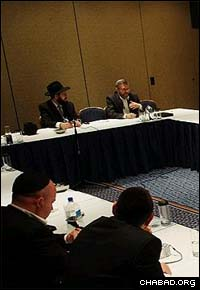 The lay leadership portion of the International Conference of Chabad-Lubavitch Emissaries included sessions with noted lecturers and theologians.
