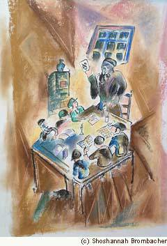 """Cheder"" by chassidic artist Shoshannah Brombacher"