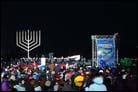 National Menorah Lit in Front of White House
