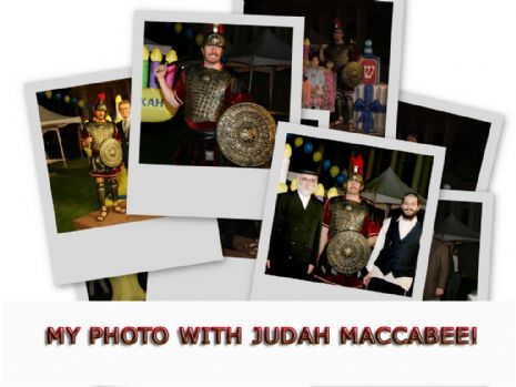My Photo with Judah Maccabee, Click Here...