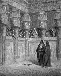 """Moses and Aaron Before Pharaoh"" by Gustave Dore"