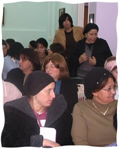 A group of women training to become Nitza volunteers