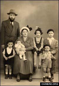 The Schapiro family in Paris, France