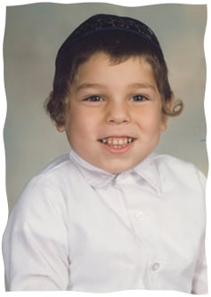 Moshe Zev Tauby, 5, of blessed memory